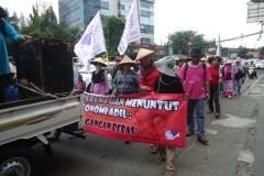 Aksi Perempuan Menolak WTO