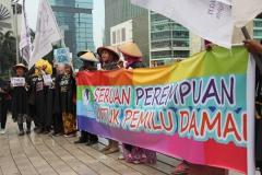 Aksi Seruan Perempuan Pilpres Damai 21-07-2014